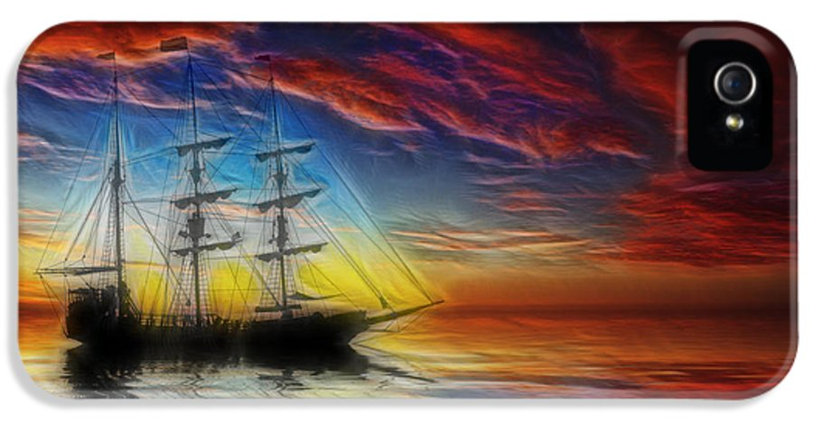 Pirate Ship IPhone 5 Case featuring the photograph Sailboat Fractal by Shane Bechler