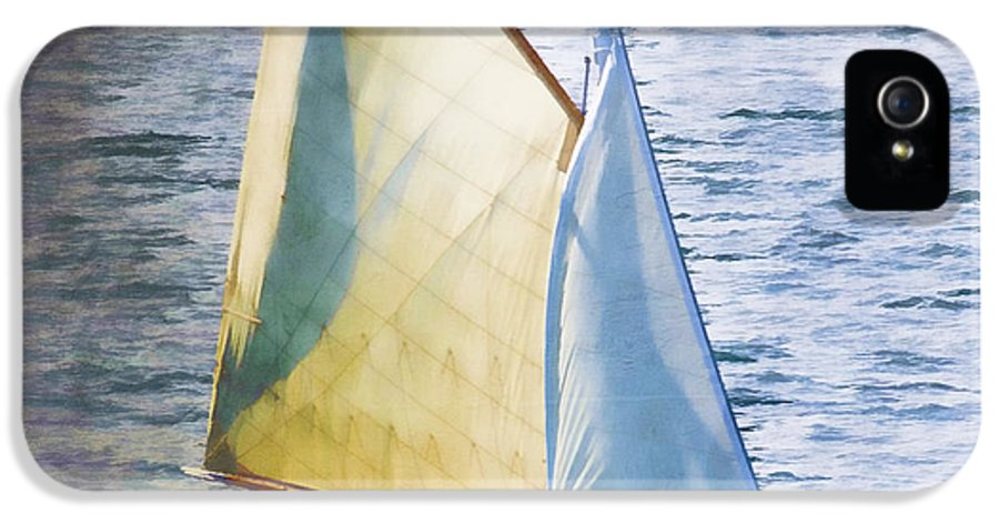 Sailboat IPhone 5 Case featuring the photograph Sailboat Off Marthas Vineyard Massachusetts by Carol Leigh