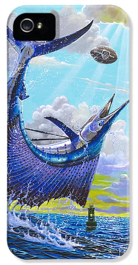 Sailfish IPhone 5 Case featuring the painting Sailfish Football Off0030 by Carey Chen