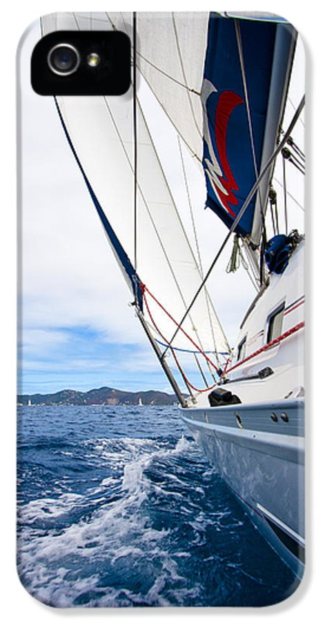 3scape IPhone 5 Case featuring the photograph Sailing Bvi by Adam Romanowicz
