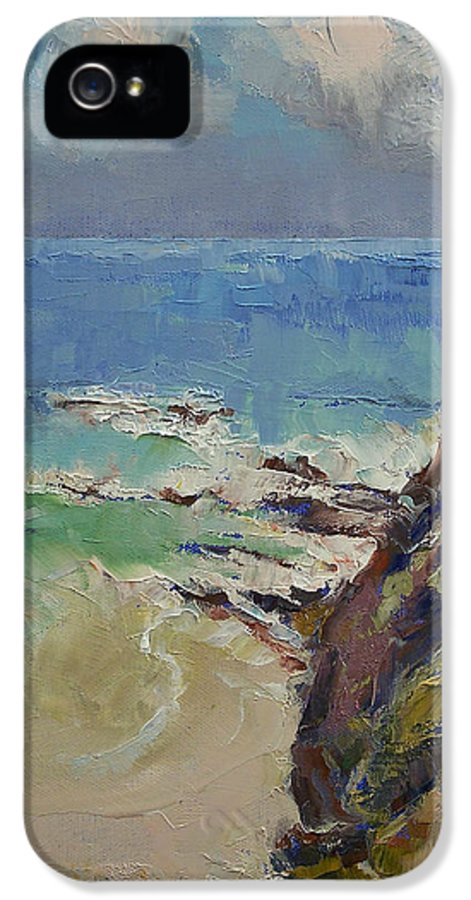 Sailing IPhone 5 Case featuring the painting Sailing Off The Cove by Michael Creese