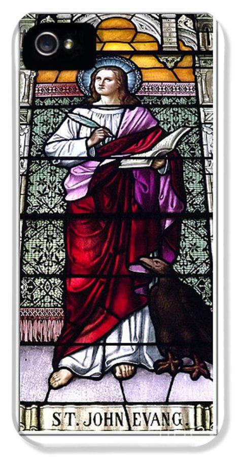 Saint John The Evangelist IPhone 5 Case featuring the photograph Saint John The Evangelist Stained Glass Window by Rose Santuci-Sofranko