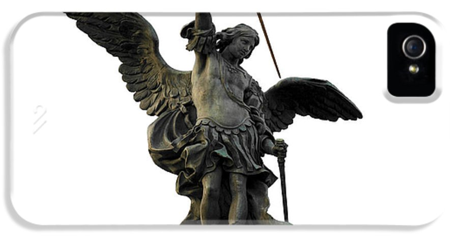 Bronze IPhone 5 Case featuring the photograph Saint Michael by Fabrizio Troiani