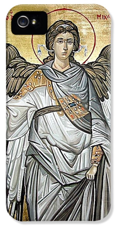 Archangel IPhone 5 Case featuring the painting Saint Michael by Filip Mihail