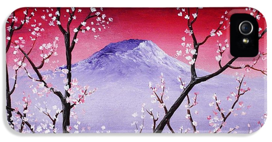 Malakhova IPhone 5 Case featuring the painting Sakura by Anastasiya Malakhova