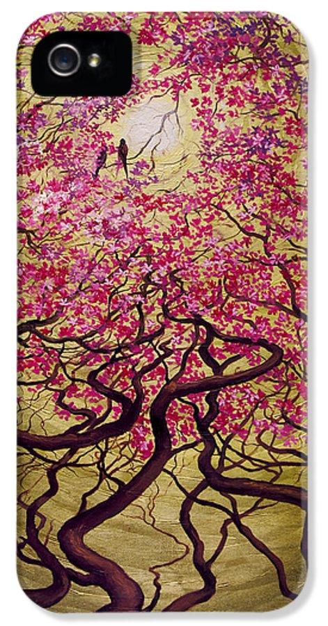 Sakura IPhone 5 Case featuring the painting Sakura by Vrindavan Das