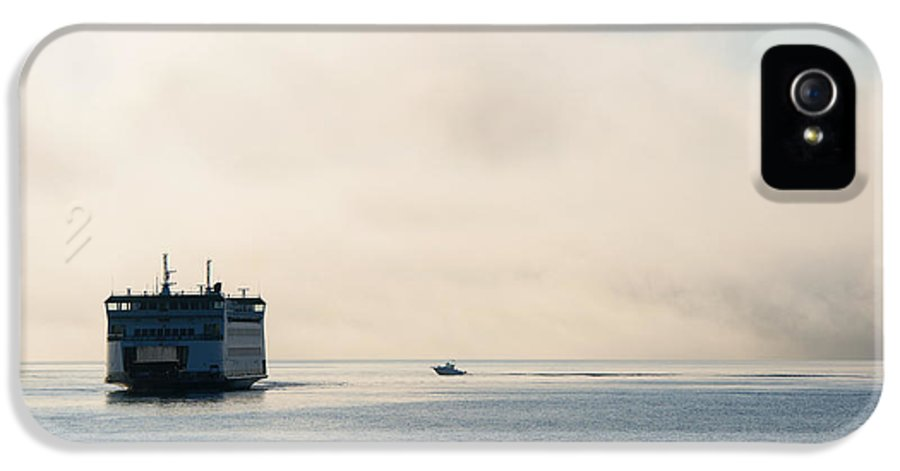 Ferry IPhone 5 Case featuring the photograph Salish Into The Fog by Mike Dawson