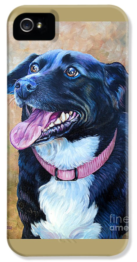 Mixed Breed IPhone 5 / 5s Case featuring the painting Sallie by Catherine Garneau