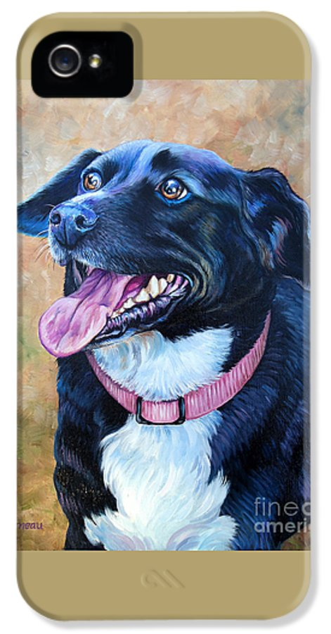 Mixed Breed IPhone 5 Case featuring the painting Sallie by Catherine Garneau