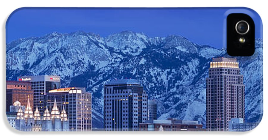 America IPhone 5 Case featuring the photograph Salt Lake City Skyline by Brian Jannsen