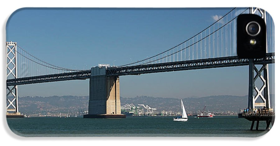 Bay Bridge IPhone 5 / 5s Case featuring the photograph San Francisco Bay Bridge West Span Vii by Suzanne Gaff