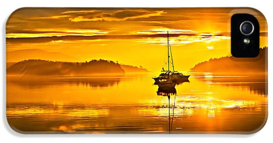 San Juan Island IPhone 5 Case featuring the photograph San Juan Sunrise by Robert Bales
