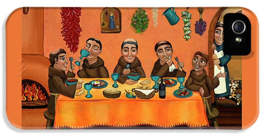 Hispanic Art IPhone 5 Case featuring the painting San Pascuals Table by Victoria De Almeida