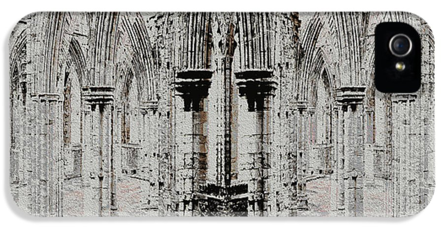 Tintern Abbey IPhone 5 Case featuring the digital art Sanctuary by Stephanie Grant