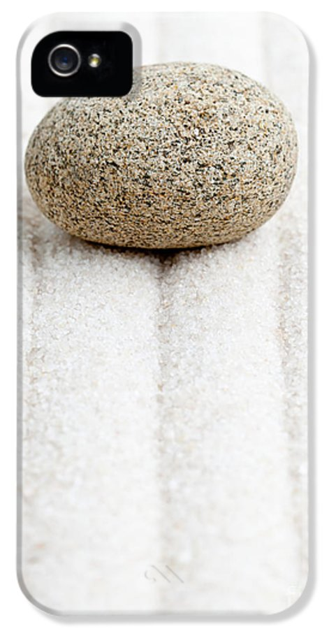 Spirituality IPhone 5 Case featuring the sculpture Sand Garden by Shawn Hempel