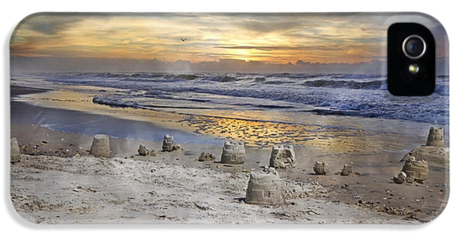 Topsail IPhone 5 Case featuring the photograph Sandcastle Sunrise by Betsy Knapp