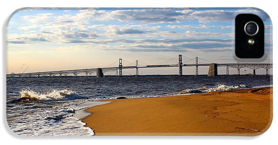 Bay Bridge IPhone 5 Case featuring the photograph Sandy Bay Bridge by Jennifer Casey