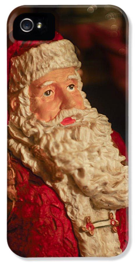 Santa Claus IPhone 5 Case featuring the photograph Santa Claus - Antique Ornament - 01 by Jill Reger