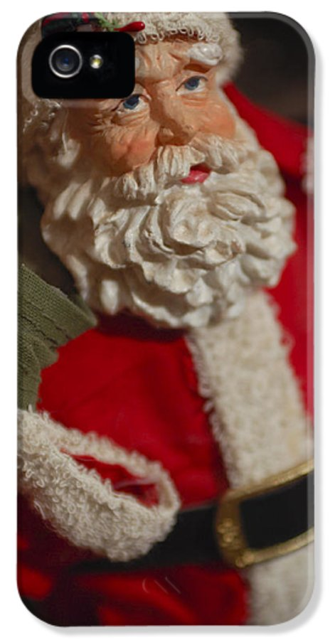 Santa Claus IPhone 5 Case featuring the photograph Santa Claus - Antique Ornament - 02 by Jill Reger