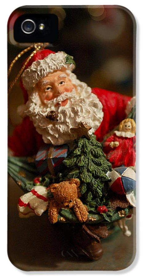Santa Claus IPhone 5 Case featuring the photograph Santa Claus - Antique Ornament - 04 by Jill Reger