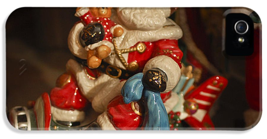 Santa Claus IPhone 5 Case featuring the photograph Santa Claus - Antique Ornament -05 by Jill Reger