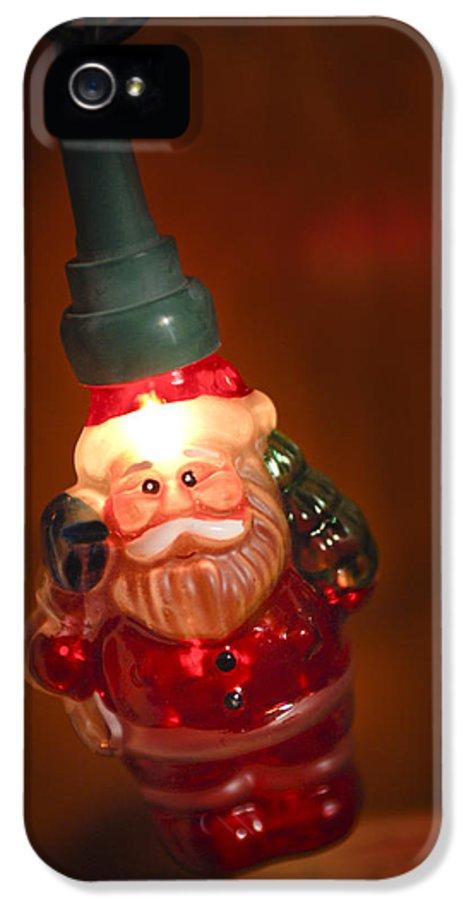 Santa Claus IPhone 5 Case featuring the photograph Santa Claus - Antique Ornament - 06 by Jill Reger