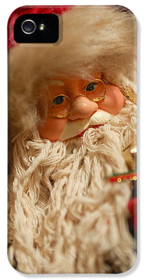 Santa Claus IPhone 5 Case featuring the photograph Santa Claus - Antique Ornament - 08 by Jill Reger