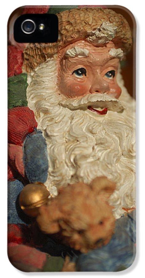 Santa Claus IPhone 5 Case featuring the photograph Santa Claus - Antique Ornament - 09 by Jill Reger