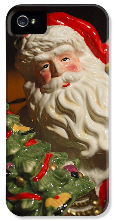 Santa Claus IPhone 5 Case featuring the photograph Santa Claus - Antique Ornament - 10 by Jill Reger