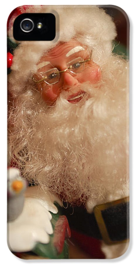 Santa Claus IPhone 5 Case featuring the photograph Santa Claus - Antique Ornament - 11 by Jill Reger