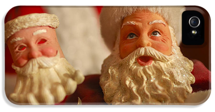 Santa Claus IPhone 5 Case featuring the photograph Santa Claus - Antique Ornament - 12 by Jill Reger