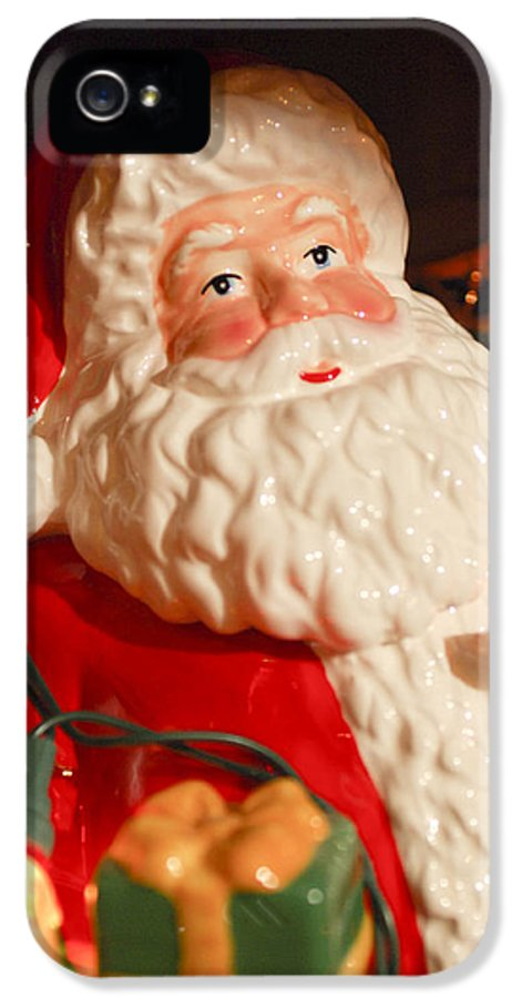 Santa Claus IPhone 5 / 5s Case featuring the photograph Santa Claus - Antique Ornament - 13 by Jill Reger