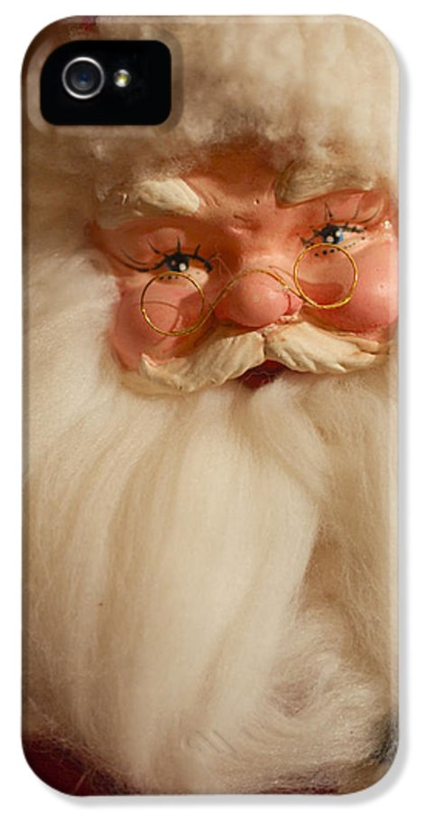 Santa Claus IPhone 5 Case featuring the photograph Santa Claus - Antique Ornament - 14 by Jill Reger