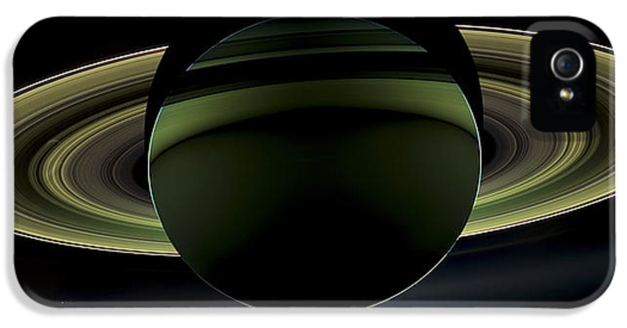 3scape Photos IPhone 5 Case featuring the photograph Saturns Glowing Rings by Adam Romanowicz