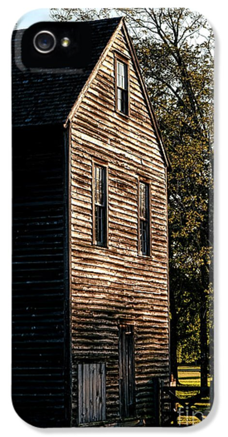 Lumber IPhone 5 Case featuring the photograph Sawmill Sunlight by Olivier Le Queinec