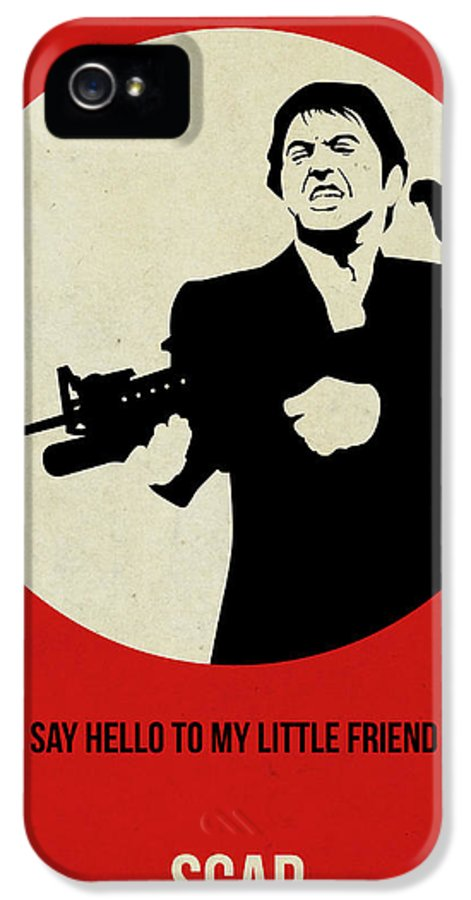 IPhone 5 Case featuring the painting Scarface Poster by Naxart Studio