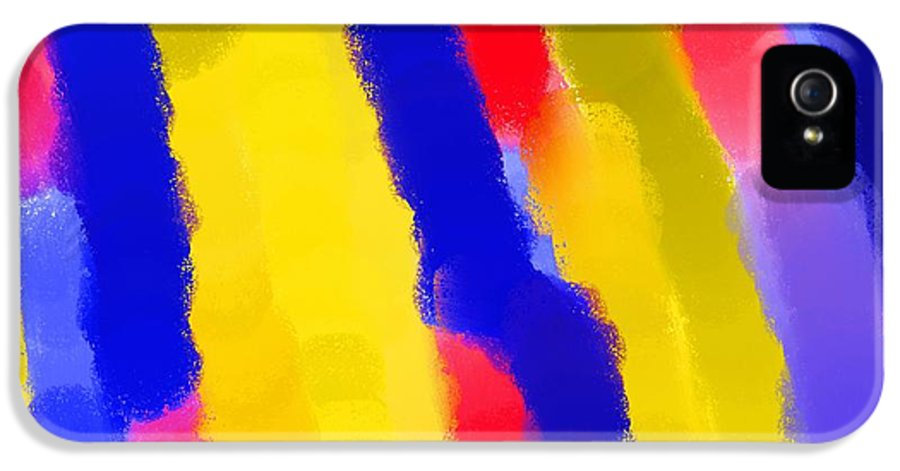 Abstract IPhone 5 Case featuring the painting Schreien by Sir Josef - Social Critic - Maha Art
