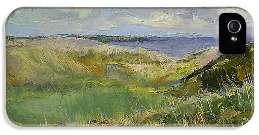 Impressionist IPhone 5 Case featuring the painting Scotland Landscape by Michael Creese