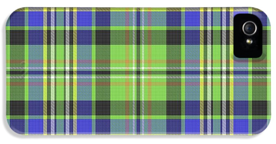 Scott IPhone 5 Case featuring the digital art Scott Ancient Green Tartan by Gregory Scott
