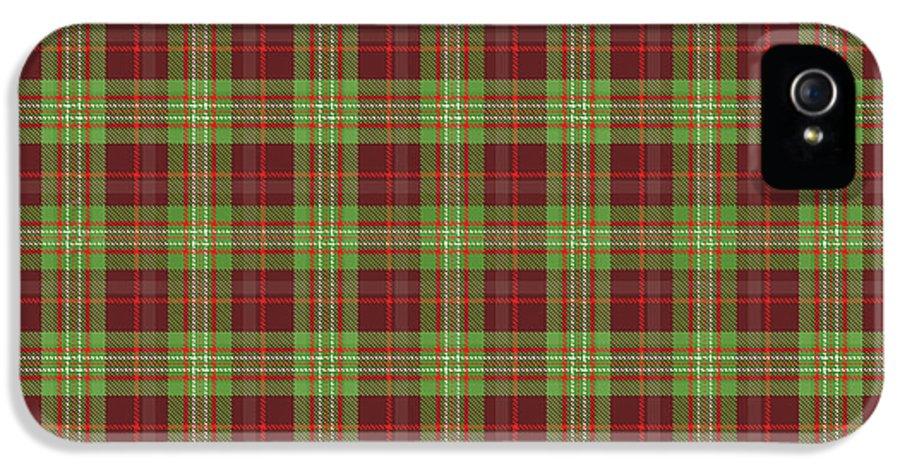 Scott IPhone 5 Case featuring the digital art Scott Hunting Green Tartan Variant by Gregory Scott