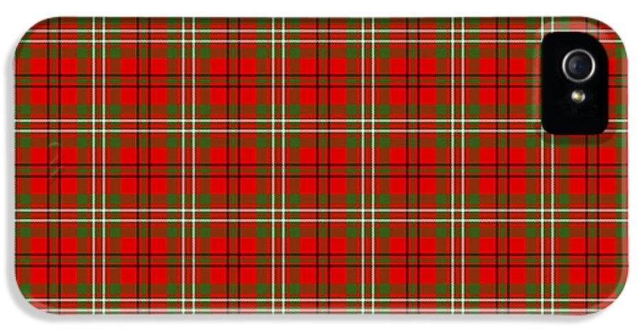 Scott IPhone 5 Case featuring the digital art Scott Red Tartan Variant by Gregory Scott