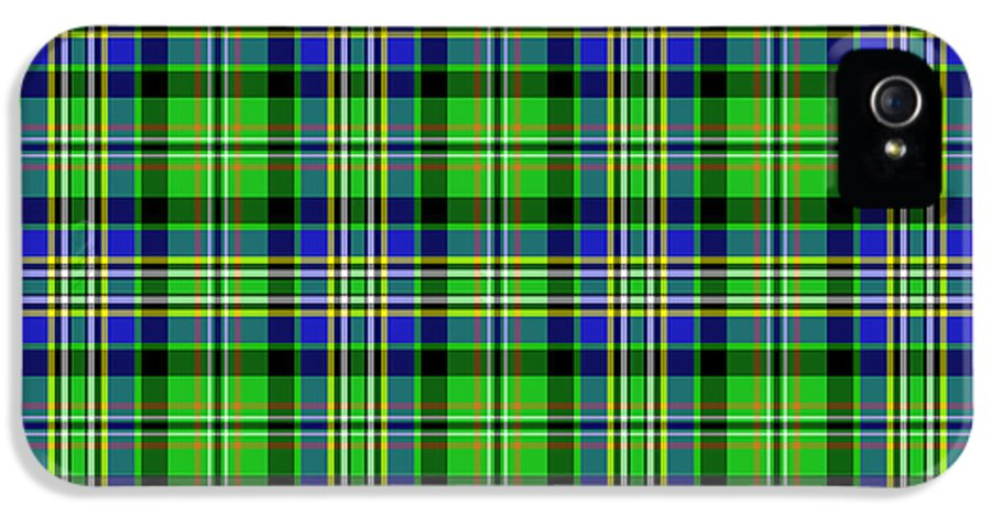 Scott IPhone 5 Case featuring the mixed media Scott Tartan Variant by Gregory Scott