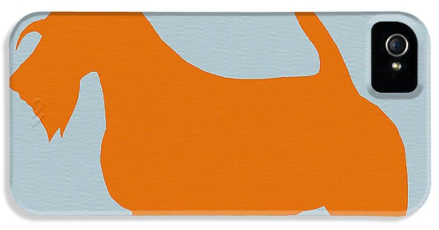 Scottish Terrier IPhone 5 Case featuring the painting Scottish Terrier Orange by Naxart Studio
