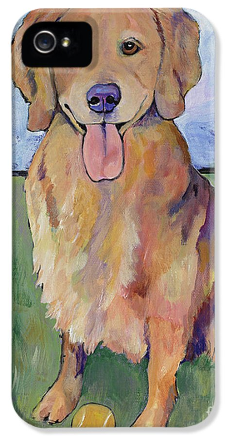 Pat Saunders-white IPhone 5 / 5s Case featuring the painting Scout by Pat Saunders-White