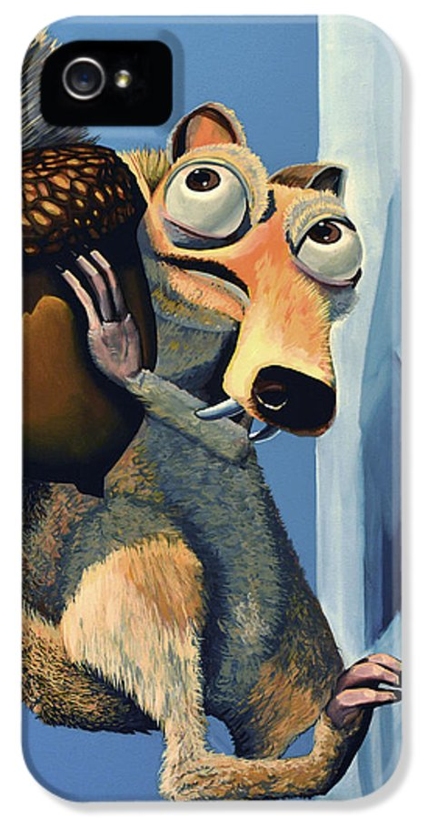 Scrat IPhone 5 Case featuring the painting Scrat Of Ice Age by Paul Meijering