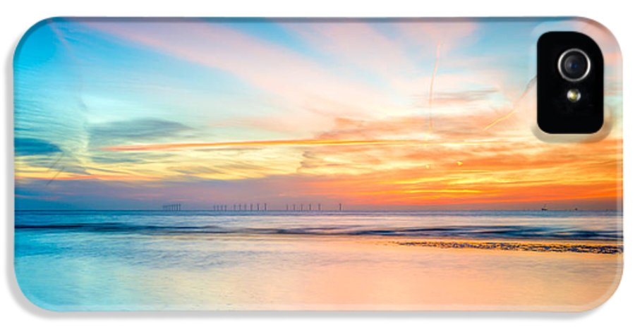 British IPhone 5 Case featuring the photograph Seascape Sunset by Adrian Evans