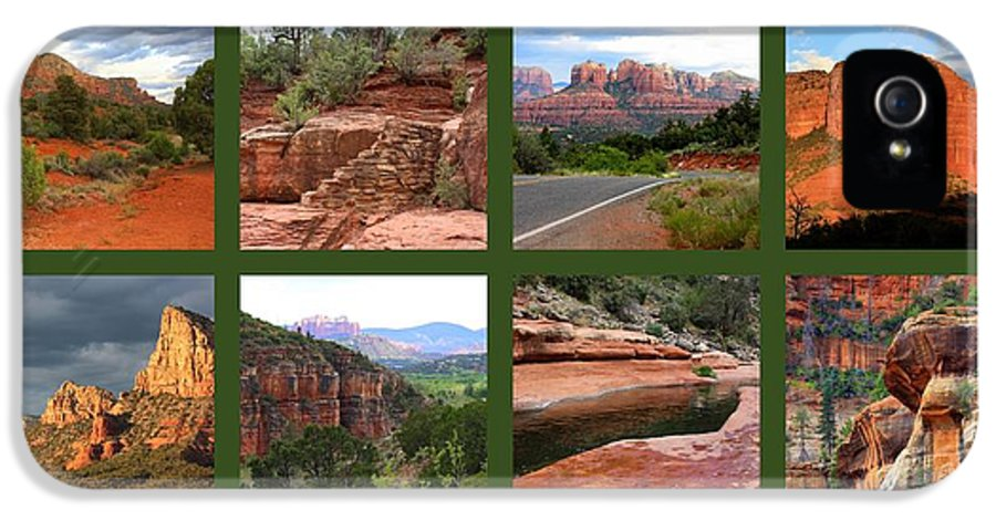 Sedona IPhone 5 Case featuring the photograph Sedona Spring Collage by Carol Groenen