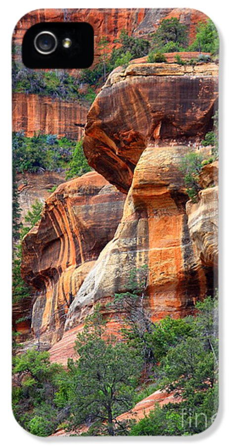 Sedona IPhone 5 Case featuring the photograph Sedona Stripes by Carol Groenen