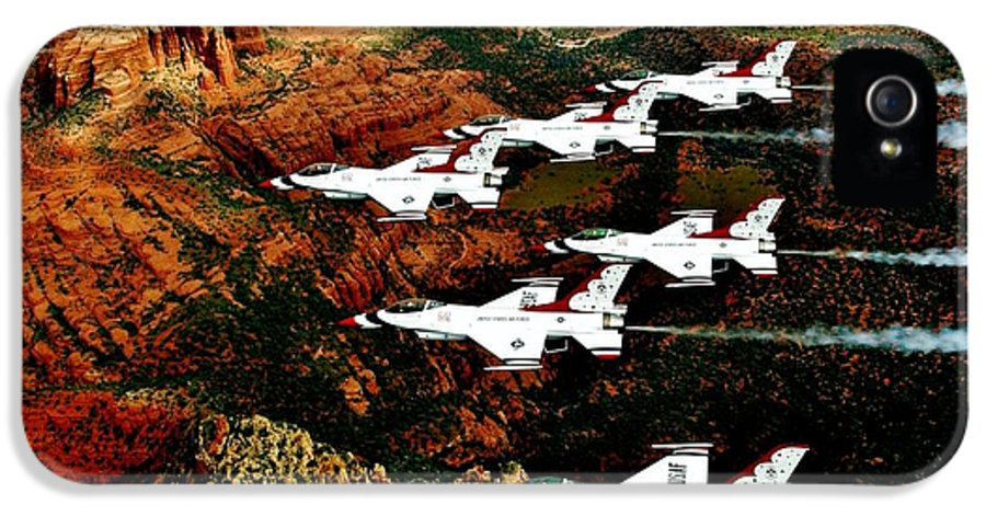 Sedona IPhone 5 Case featuring the photograph Sedona Thunderbirds by Benjamin Yeager