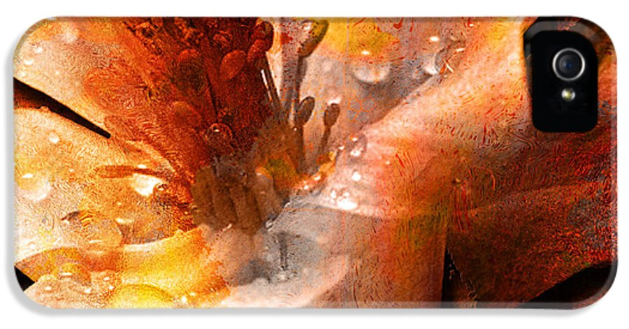 IPhone 5 Case featuring the mixed media Seeds II by Yanni Theodorou